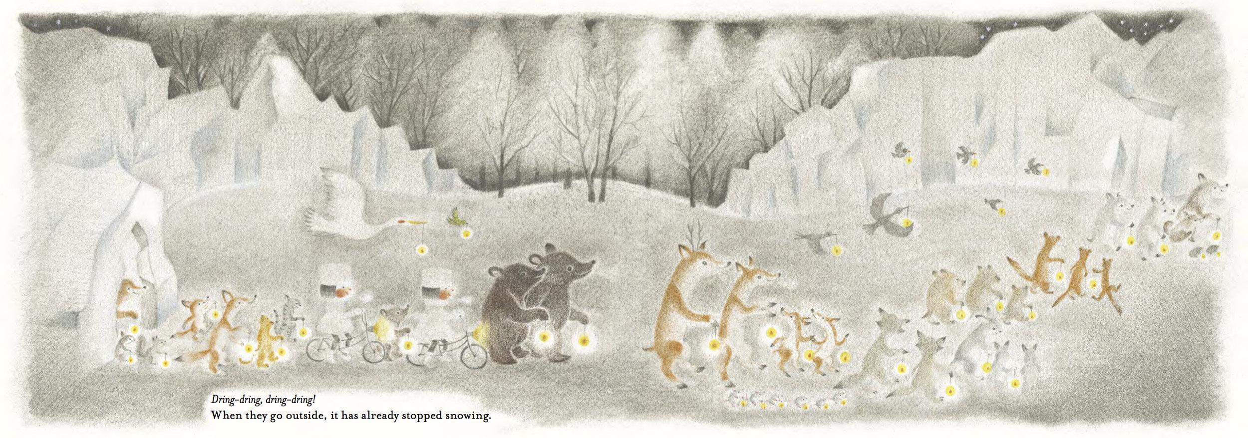 Image from Chirri & Chirra, The Snowy Day by Kaya Doi