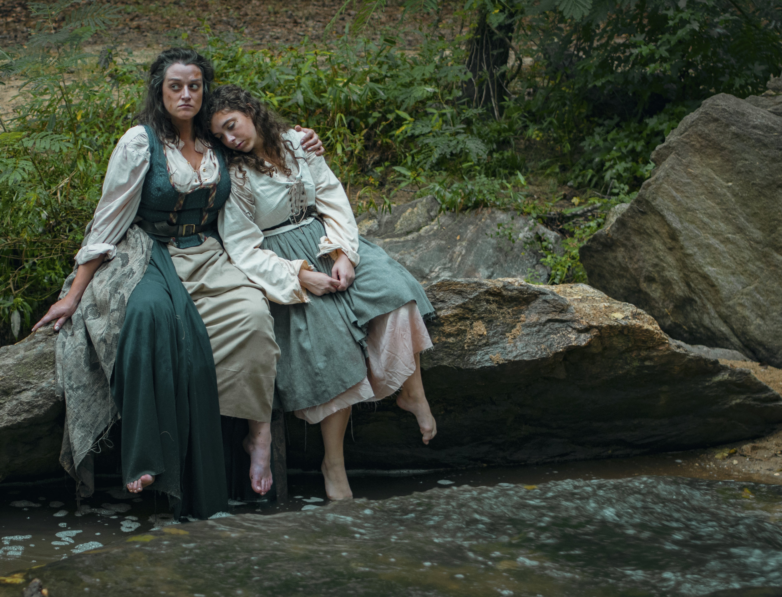 MFA Actor Anna Pieri and undergraduate Melanie Sheahan as Janet & Helen Horne in UGA Theatre's production of  The Last Witch .