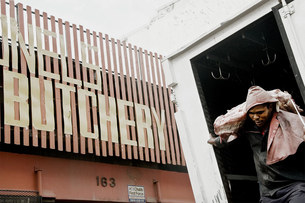 Pieter Vosloo   Butchery Johannesburg, 2012  Digital Print on Felix Schoeller  True Rag Etching,305gsm  39 x 25 cm  Edition: 10
