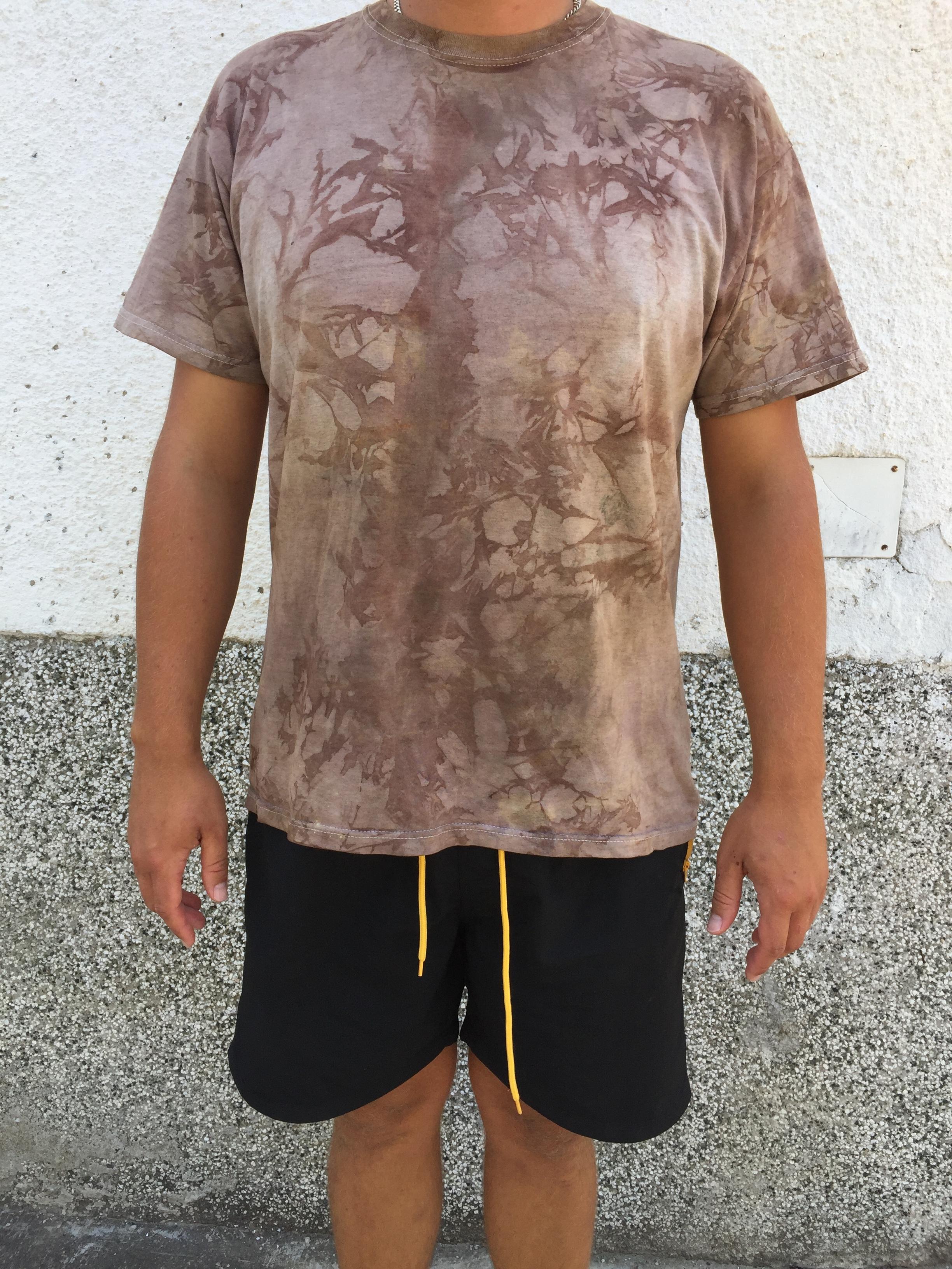 Walnut Dye on T-shirt - Substantive dye