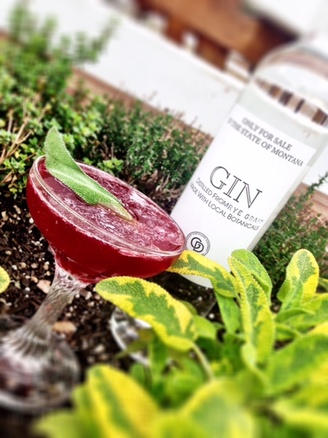 Gin Sling - In a shaker:1 oz. Glacier Distilling Gin1 oz. pomegrante puree½ oz. Organic agaveFresh lime, squeezedShake and strain into martini glassGarnish with spanked sage