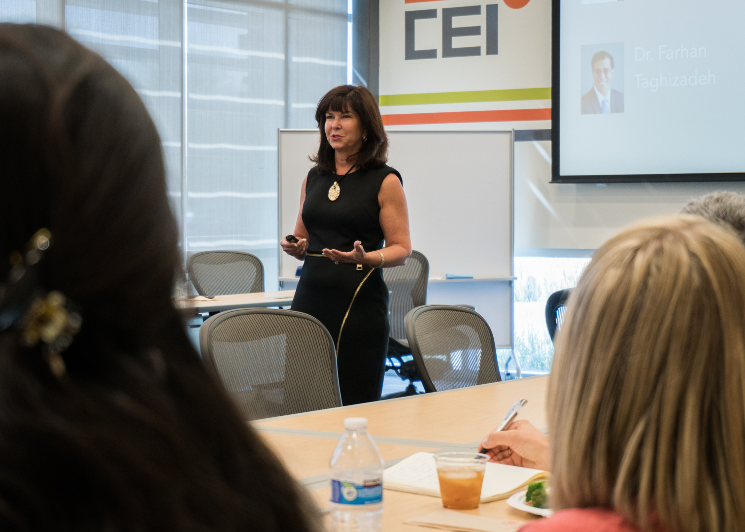 CEI brings in  industry experts (like MaryAnn Guerra, seen above) to share advice and information at our monthly Founders Forum.