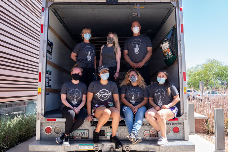 Pictured here is CEI's team in Phoenix team captured in Phoenix after loading up a U-Haul with hundreds of donations for the Hopi people!
