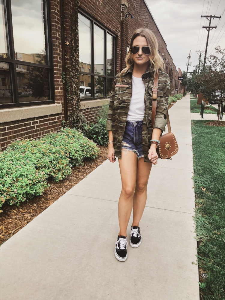 This camo utility jacket is hands down my fav purchase of the sale + it's under $50!