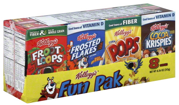 Kellog's fun paks always made eating cereal