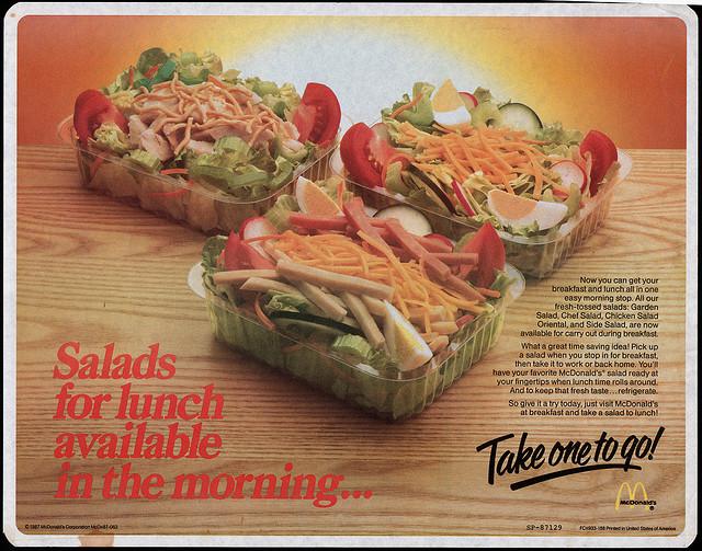 McDonal's Chef salad was legit!