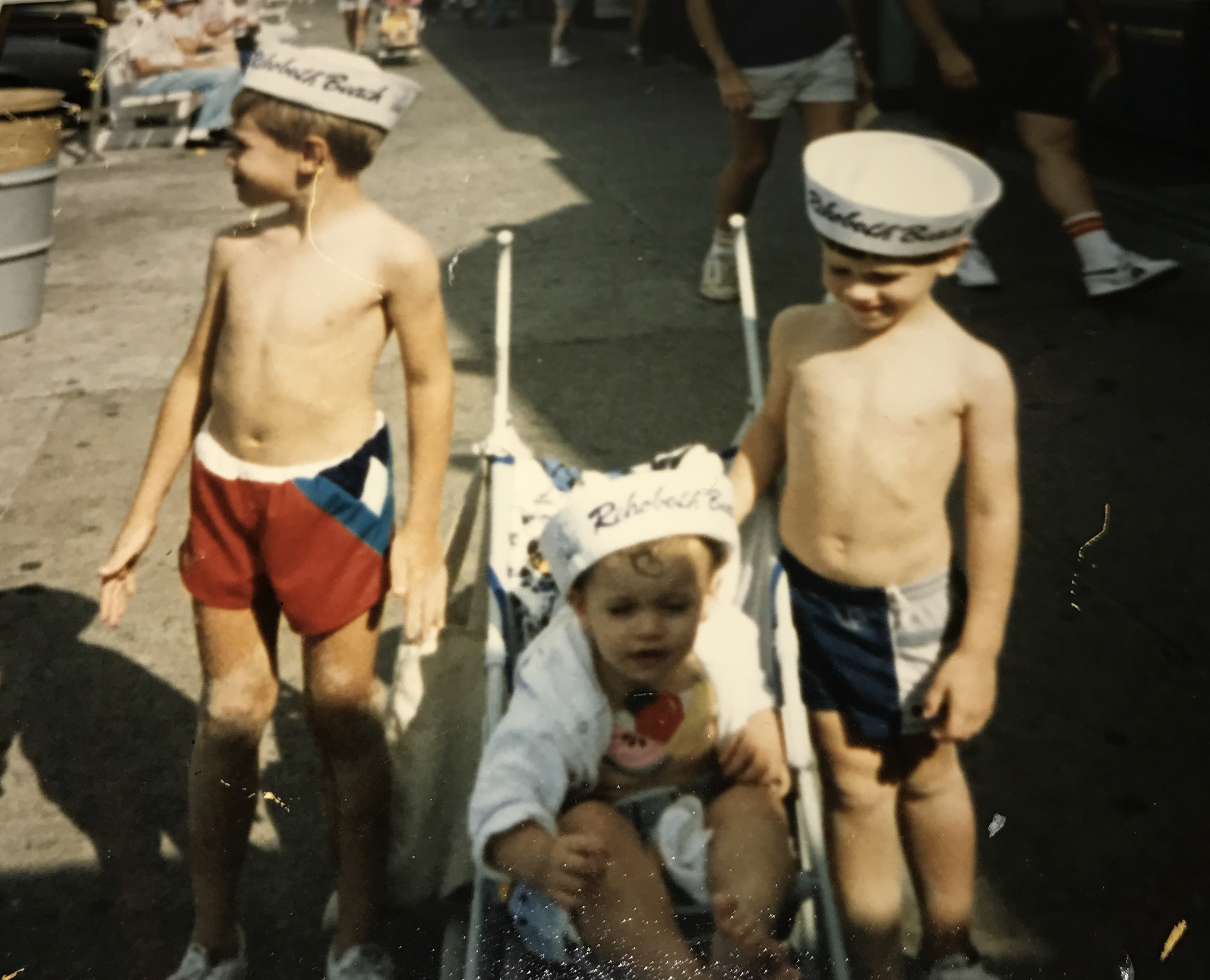 My older brother, my little sister and myself in our matching Rehoboth beach sailor hats.
