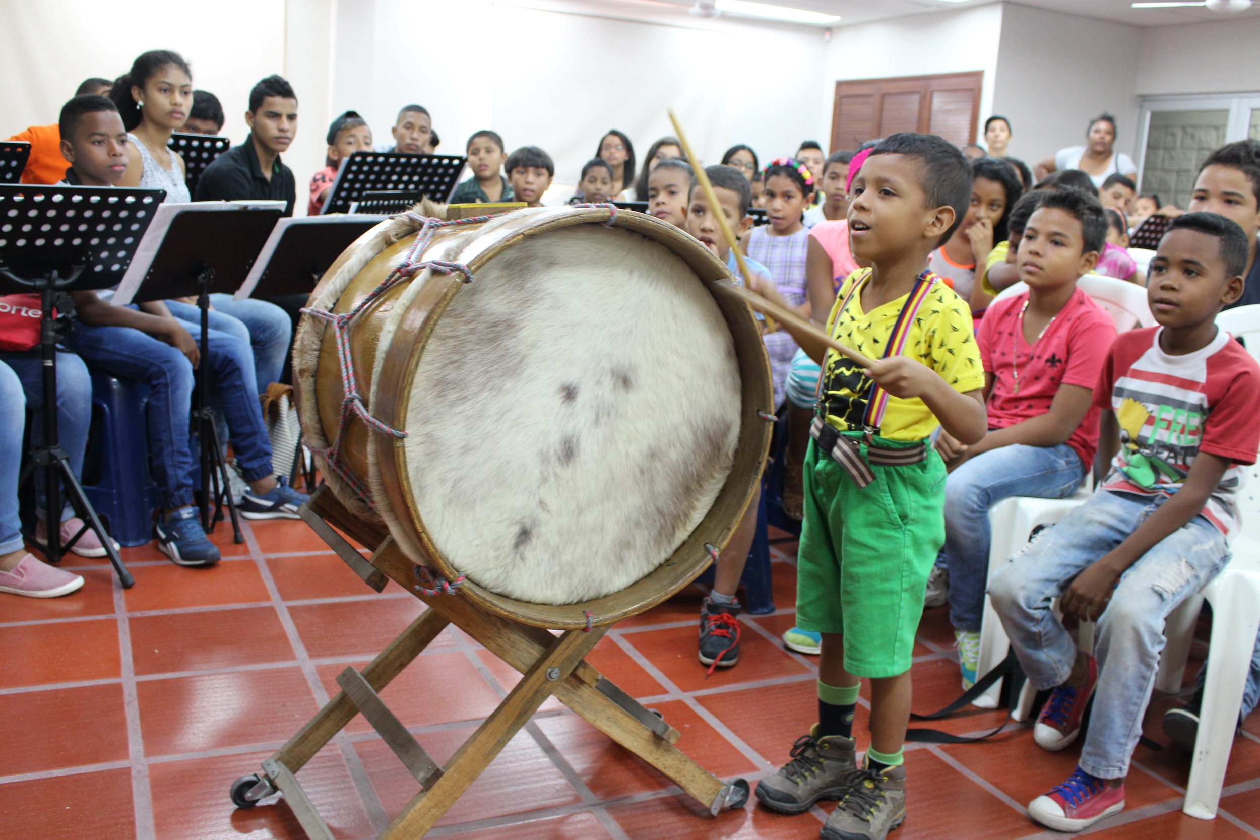 Rehearsing in Barranquilla.