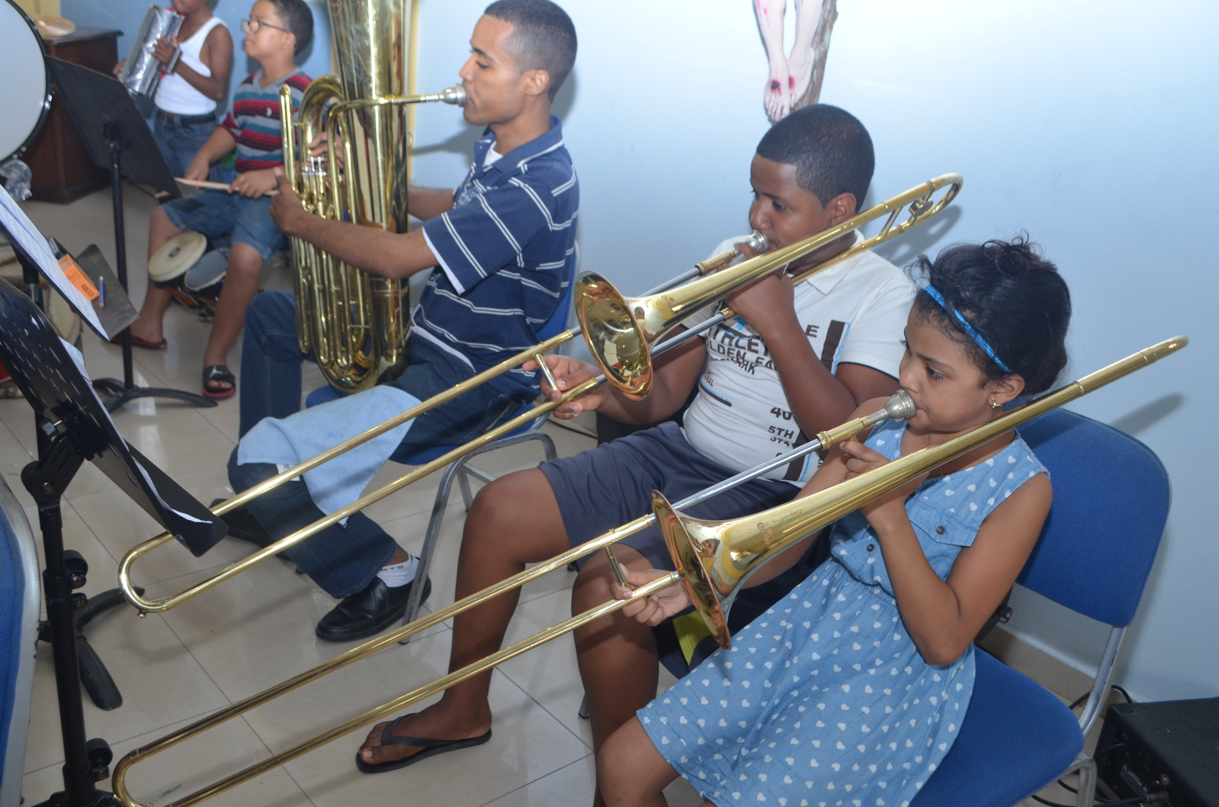 Barranquilla brass section.