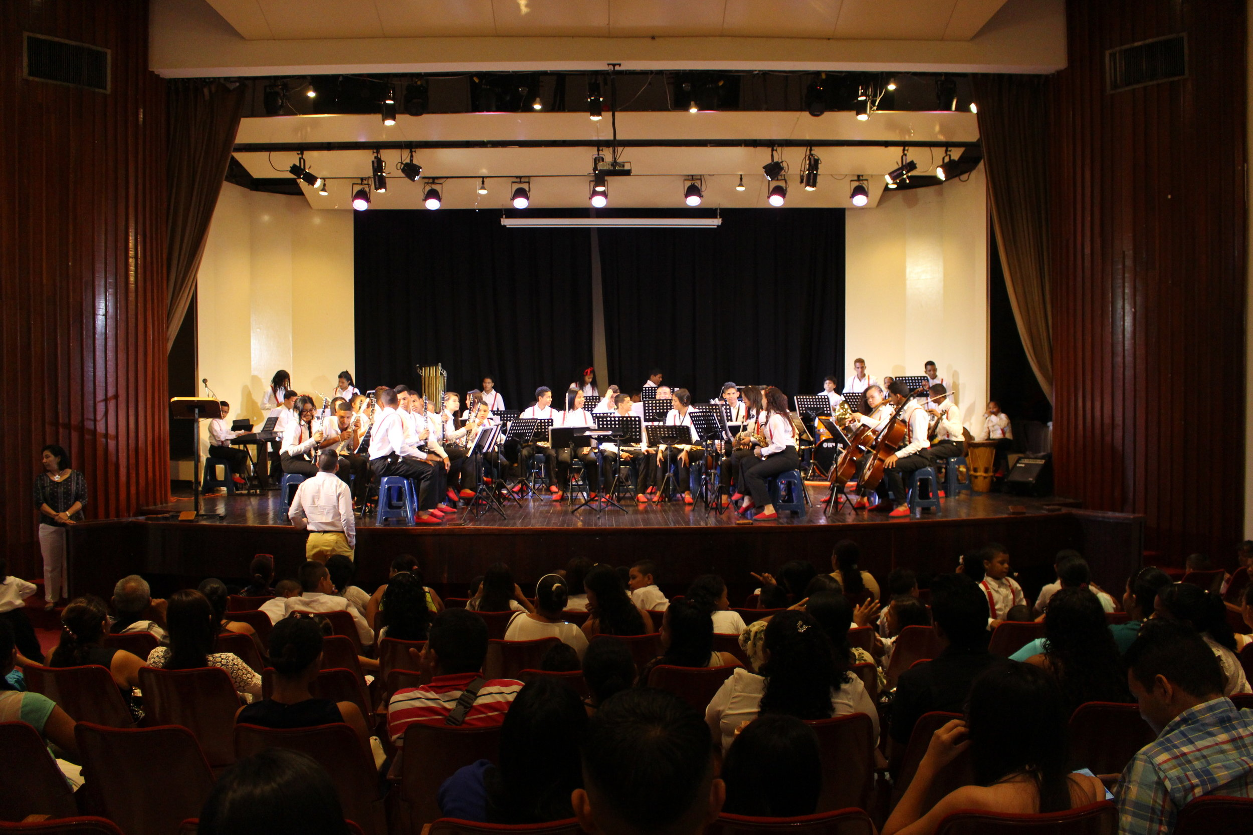 Performing in Barranquilla.