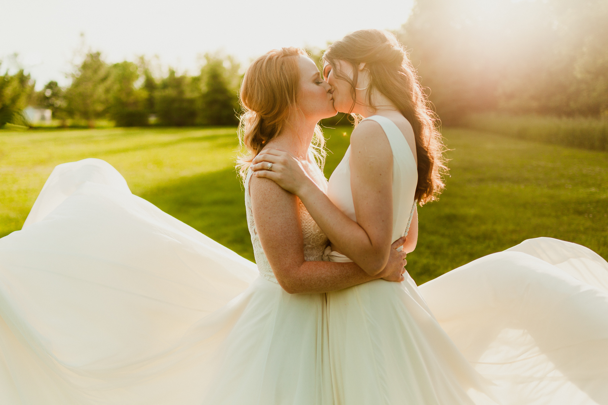 PRIDE | Queer Couple | LOVE IS LOVE | Wedding Gown