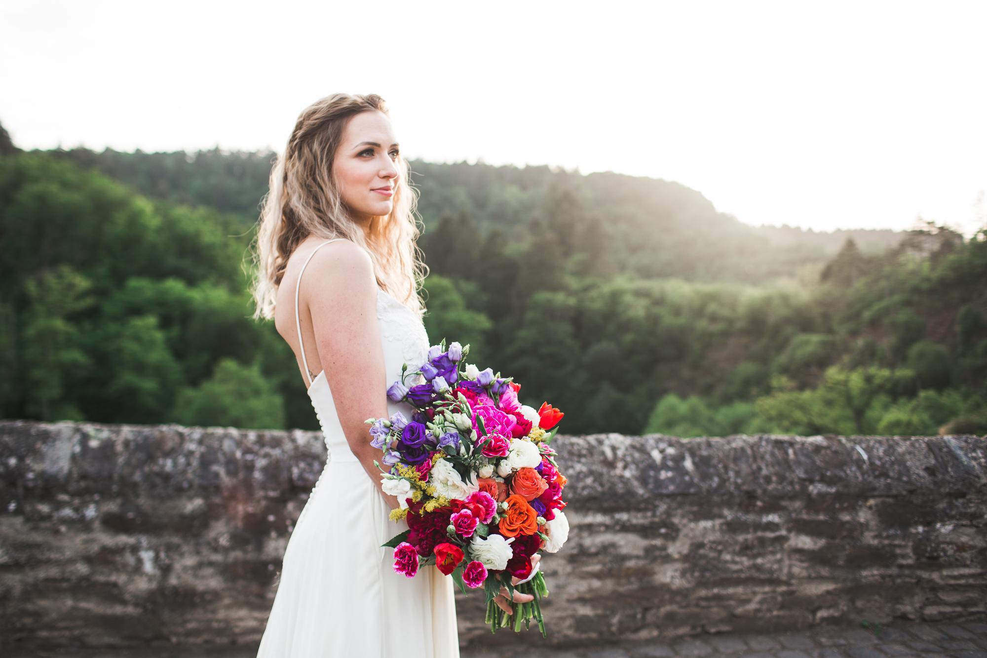 Burg Eltz   Minimal Wedding Gown   Crepe Dress