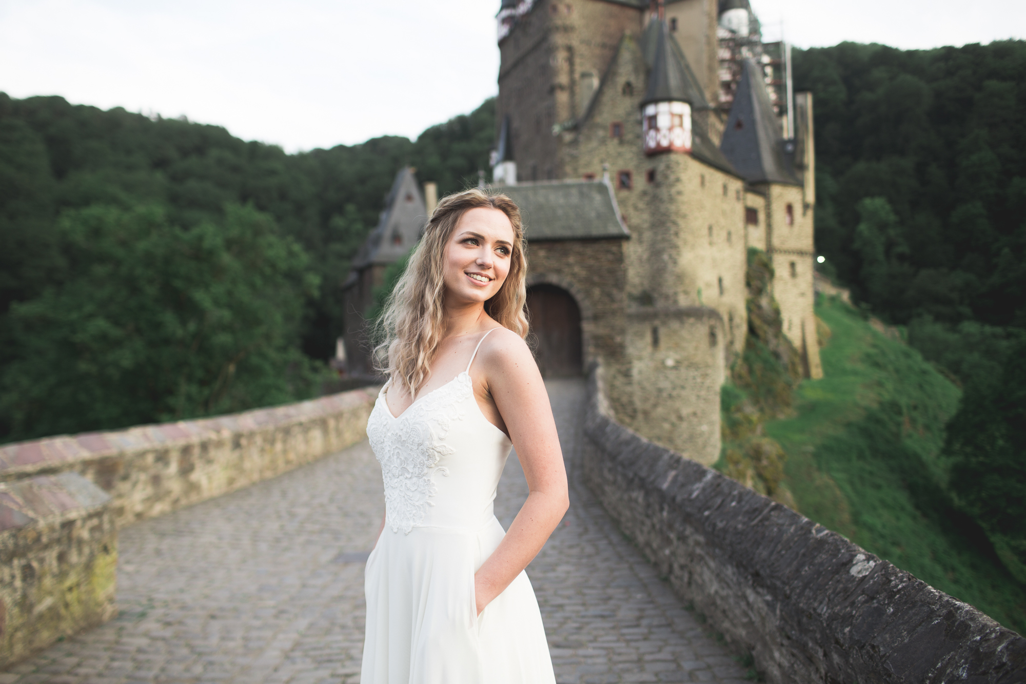 Burg Eltz   Bohemian Wedding Gown   Low Back Dress