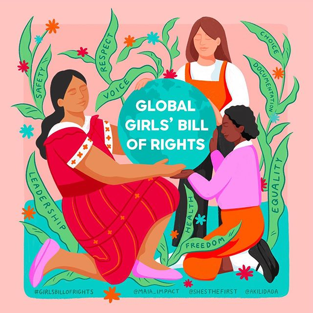 On this #InternationalDayoftheGirl, @shesthefirst is unveiling the #GirlsBillOfRights, created by more than 1,000 girls in 40 countries. It's a declaration of the rights all girls are entitled to—written by girls, for girls. Education, safety, documentation, and a voice. We pledge to support girls on the decisions that affect their lives! 👧🏻👧🏼👧🏽👧🏾👧🏿 More at GirlsBillOfRights.org AND all @nuriabeauty sales today go 100% to @ShesTheFirst!