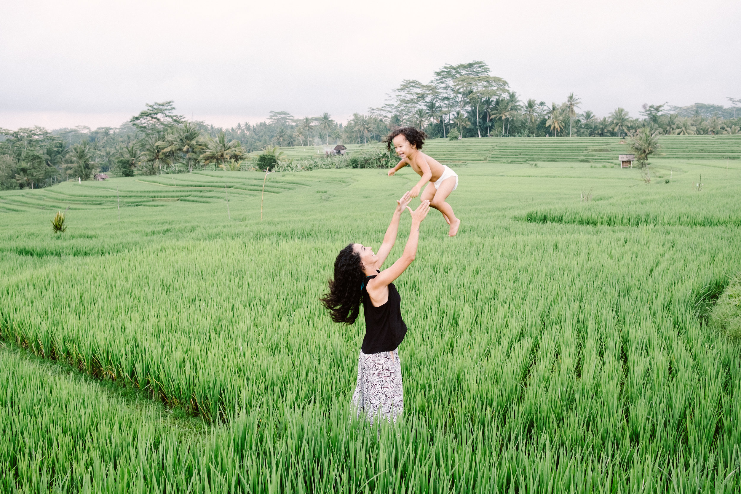 That's me. Throwing my toddler into the air. In a rice patty field. Which has nothing to do this with anything.