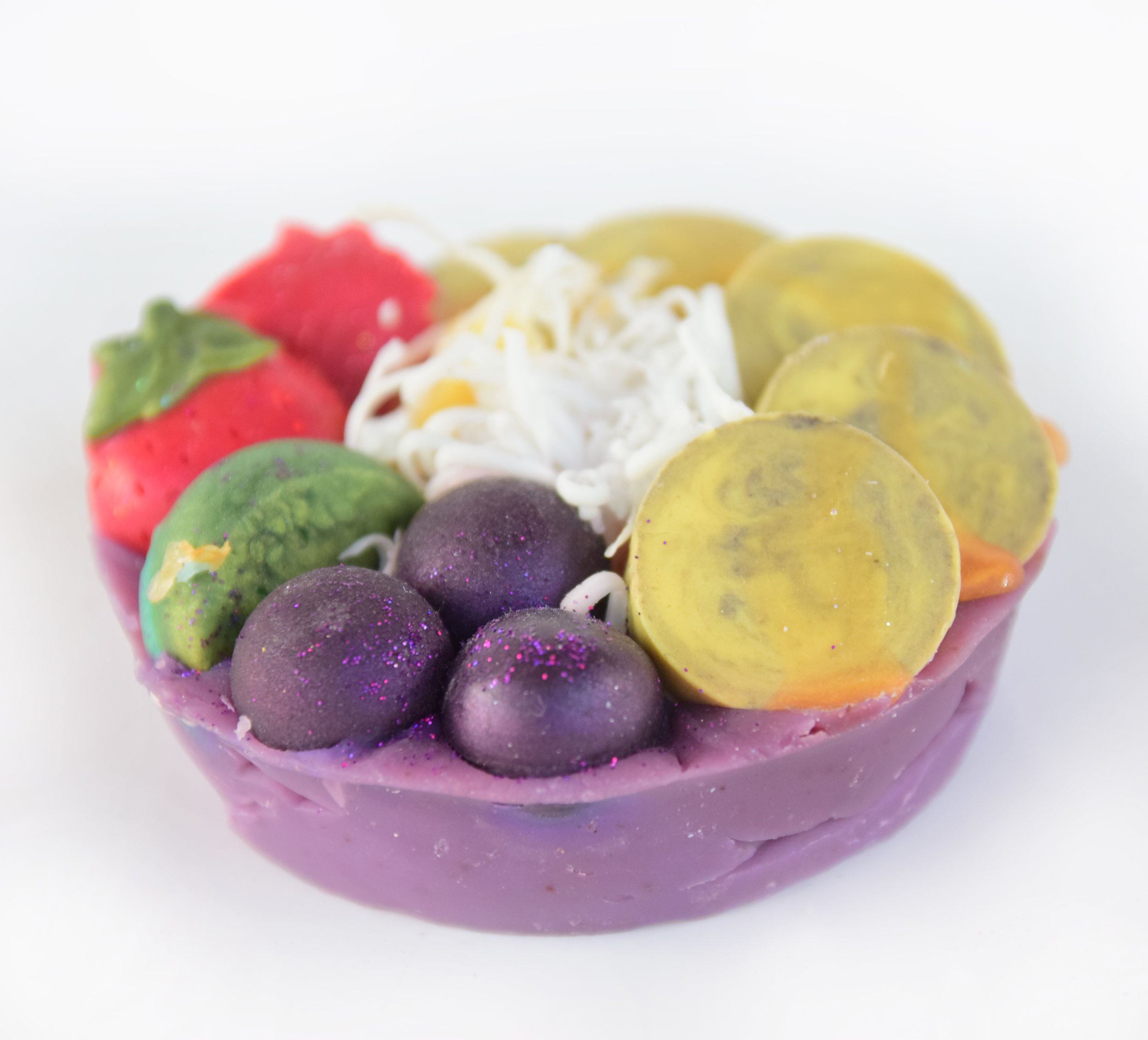Acai Bowl Soap - Original with melt & pour embeds