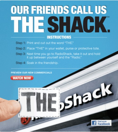 "Radio Shack ad for ""The Shack"""