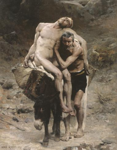 - THE GOOD SAMARITAN; 1880; OIL ON CANVAS  AIMÈ-NICOLAS MOROT; FRENCH; 1850-1913