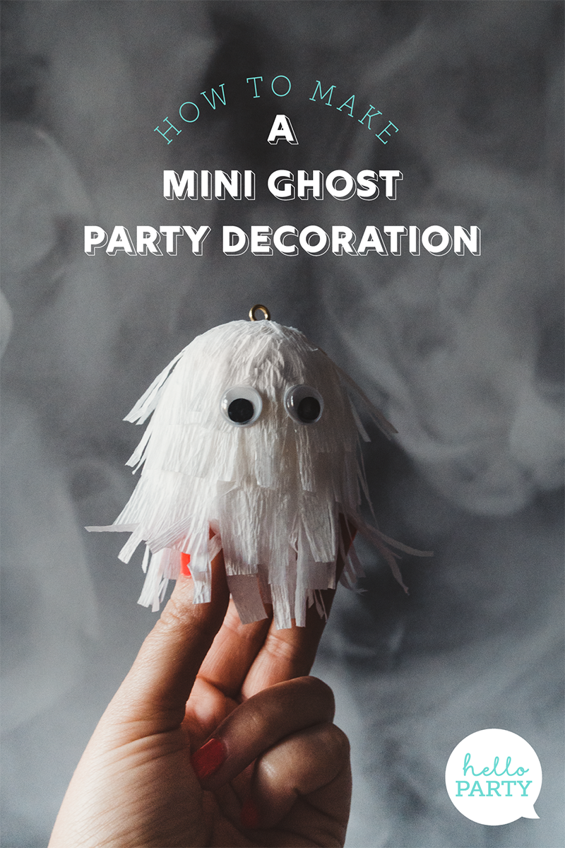 How to make a cute ghost halloween balloon tail
