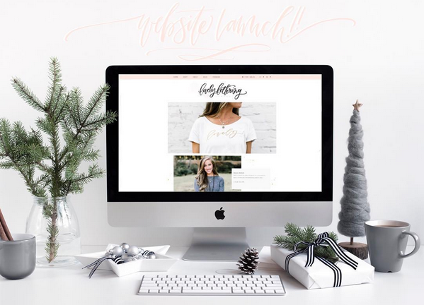 We love how Lovely Lettering announced the launch of their website using our styled stock image.