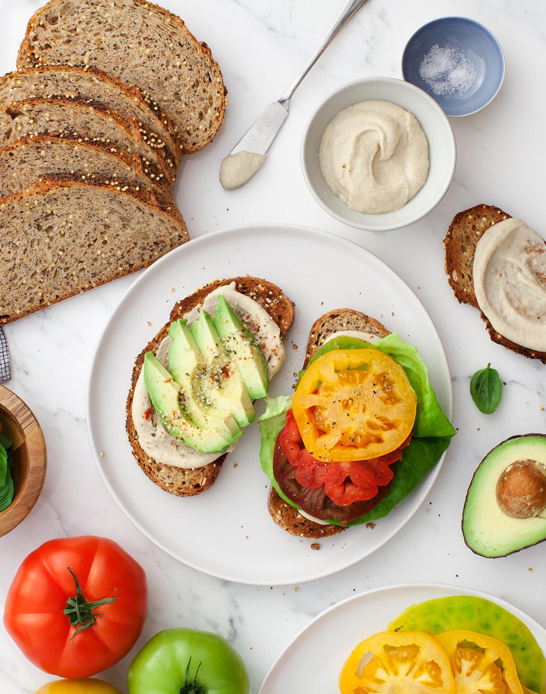 Heirloom Tomato Bean-LT Sandwiches