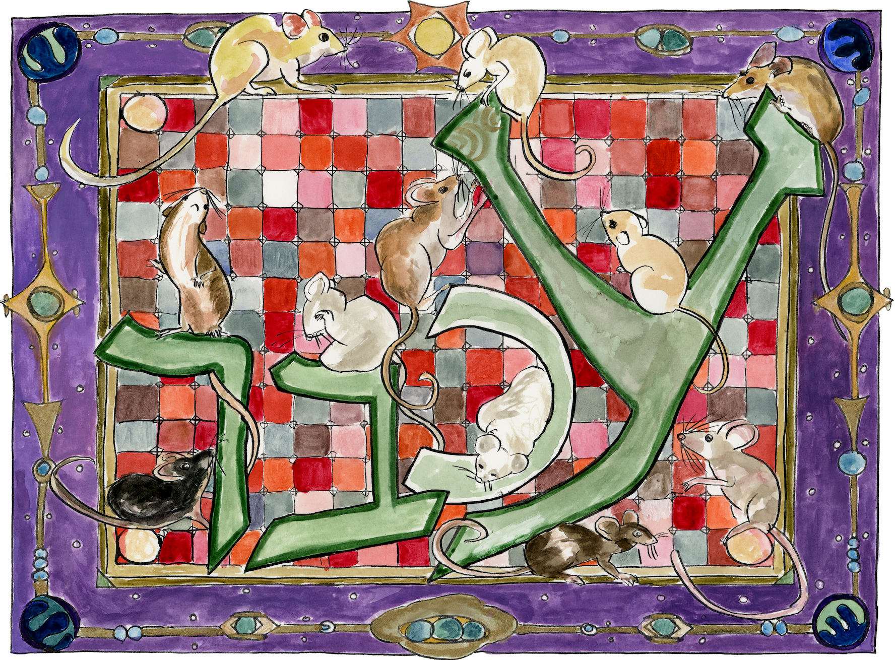 Mouse, by Abbie Steiner, from The Aleph Bet Bestiary (2002-2019)
