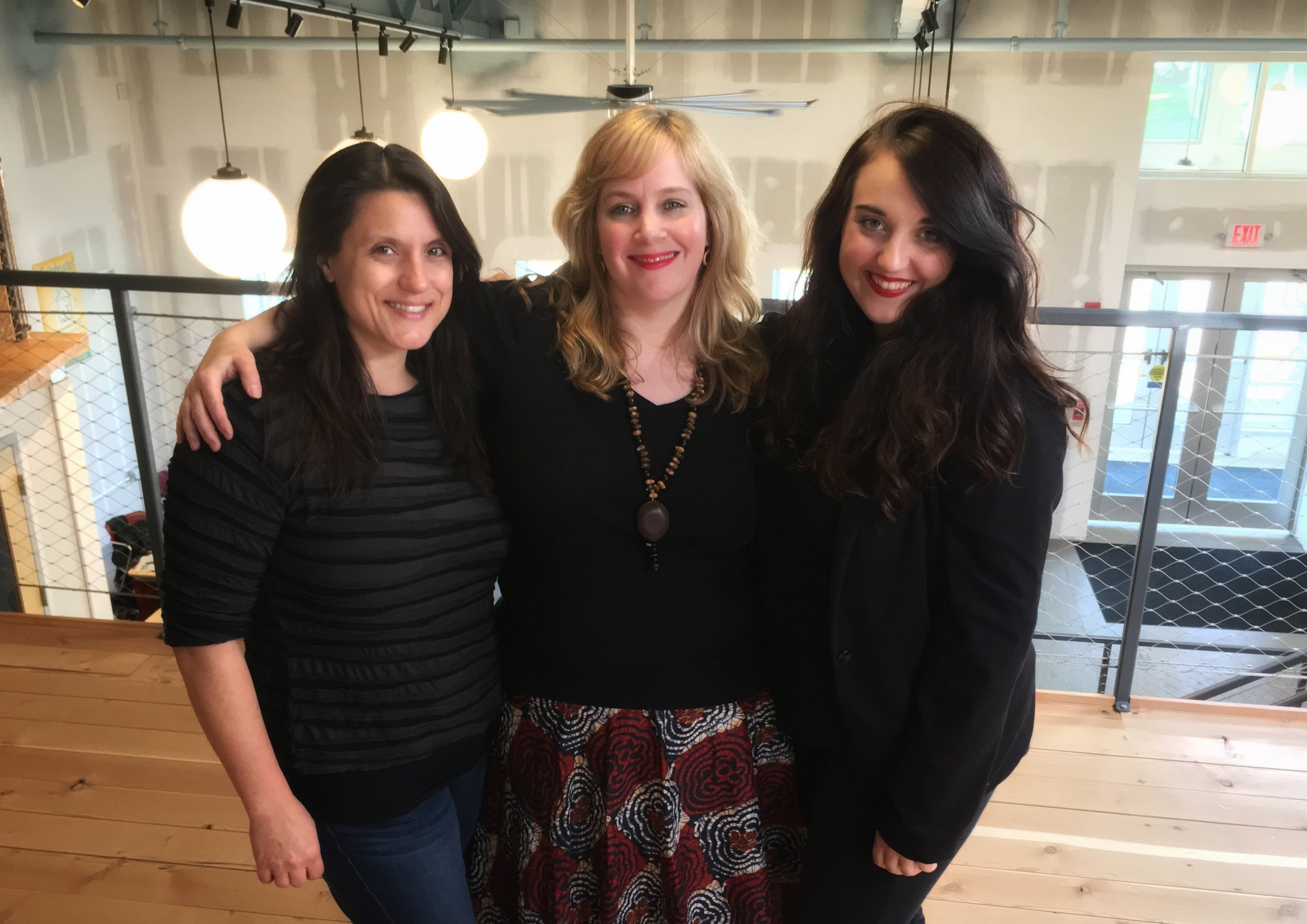 Kelly Silliman, Joanna Faraby Walker, and Melissa Dimetres. Photo by Ian Bauer.