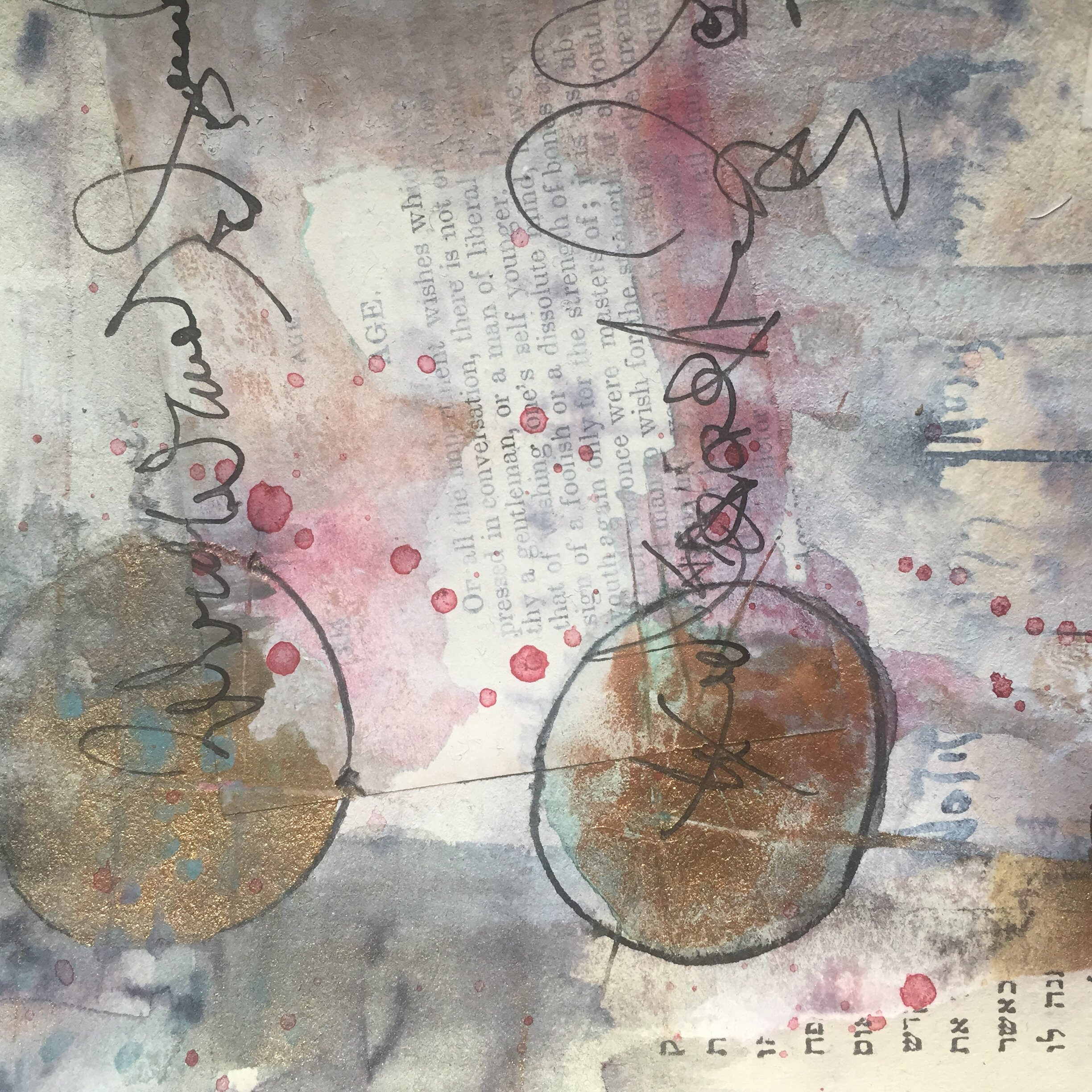 Wednesday November 13th 7pm-8:30pm  In this workshop we will investigate composition through the art of collage: approached as an inquiry, an experiment in decision-making and an opportunity for unexpected revelations. We will explore texture, the aesthetics of text and the possibilities of asemic (wordless) writing. We will examine the concept(s) of wabi sabi (un-tamed beauty) and abstraction, and attempt to meet at the crossroads of spontaneity and design. Each of us will emerge with an original piece(s) of work, which we will then deconstruct/decode/decipher to reveal elements of our own personal symbolism. Open and accessible to all manner of the curious, intrepid and the skeptical.  Materials will be provided, but do bring any scraps of interesting text or images, old books, (to be torn) or other 2-dimentional ephemera, as well as any (quick drying) inks, markers or paints you'd like to work with. UnSungStudio.net  There will be an anonymous contribution box at the door.  Suggested value is $35. Cash, check, or PayPal.  Contact Regan with any questions: rdrouin26@gmail.com