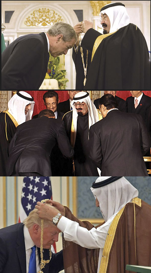 Even though the documents implicating elements of the Saudi Arabian government in the attacks of 9/11 only came out in 2016, all three of these presidents had access to the information when they did this.