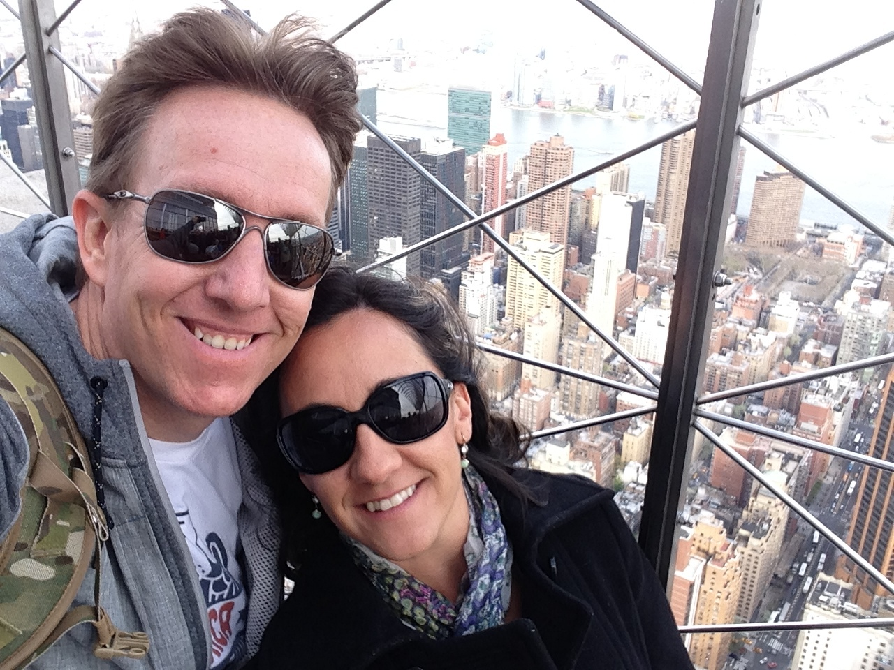 Me and my wife, Erica, in New York City.