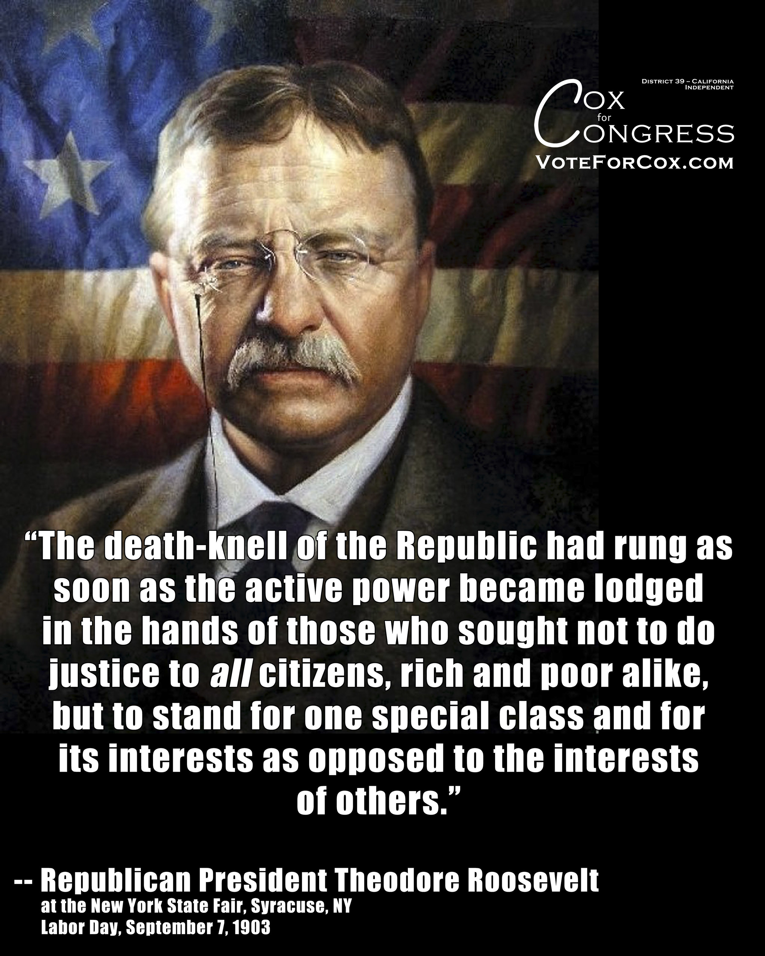 Both of our major political parties today work on behalf of the rich only.