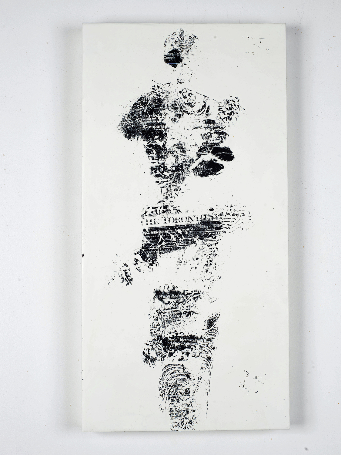 """Waste Reduction    Fax carbon, wax 20"""" x 24"""" 2012"""