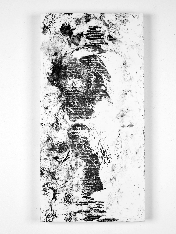"Memory (poem by Ruth Roach Pierson)    Fax carbon, wax 20"" x 24"" 2012"