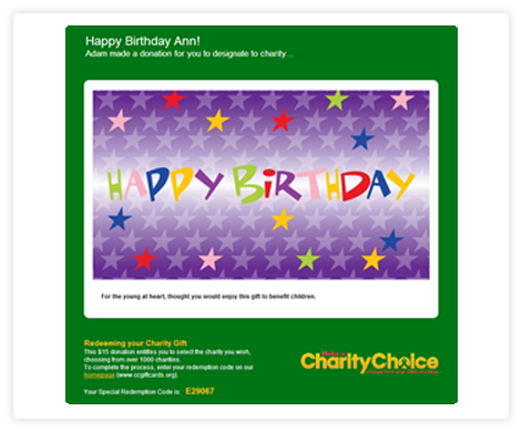 CharityChoice Gift Card, Special Kids Fund