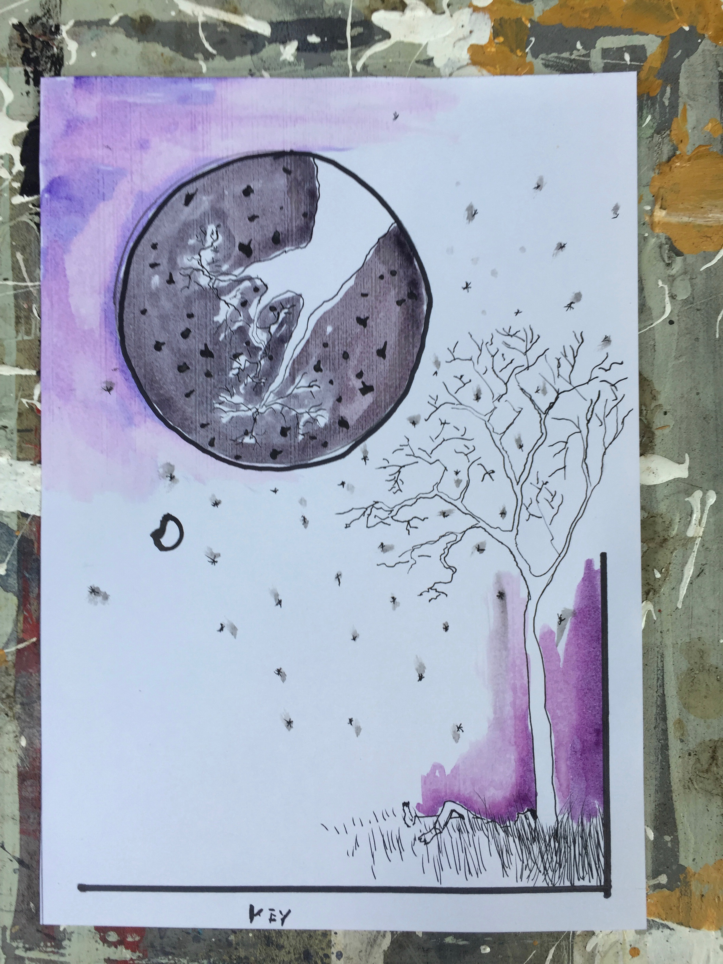 Purple Drawing