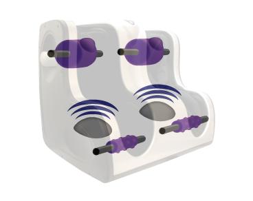 3 Vibration Modes - • Rhythmic Vibration• Continuous High-Speed Vibration• Continuous Low-Speed Vibration