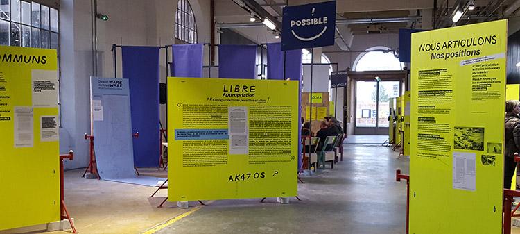 A la Biennale du design de Saint-Etienne 2017, l'exposition participative «L'Expérience tiers-lieux: Fork the World». © Makery