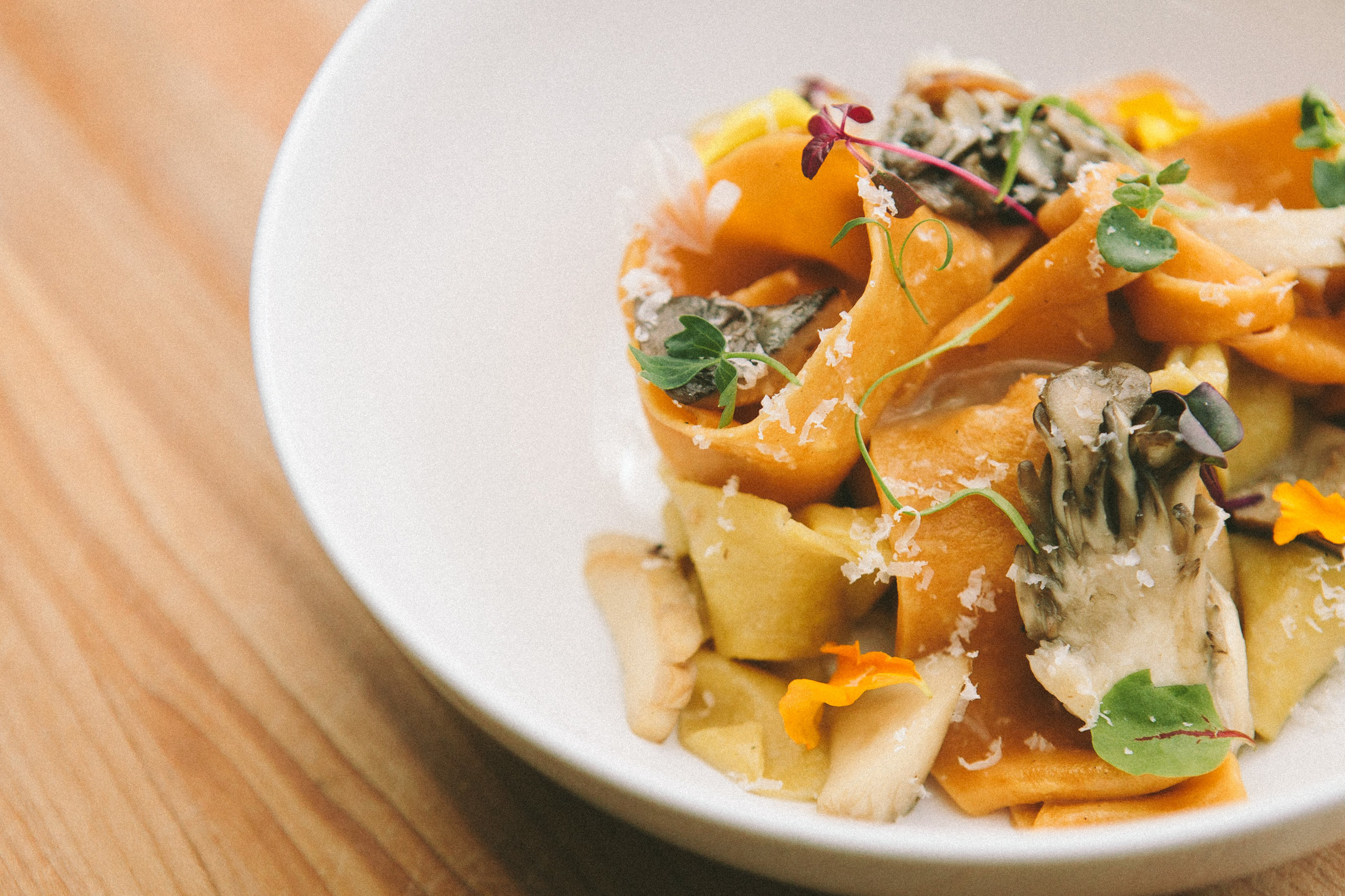 Pappardelle, Funghi &Parmigiano Reggiano 24 months