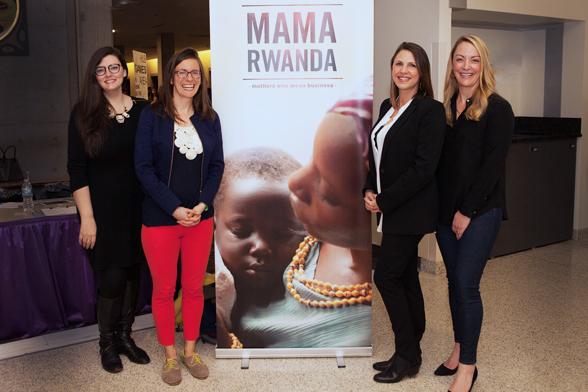 Mama Rwanda  director Laura Waters Hinson and MPI vice president of talent development Lana Link celebrate a successful screening with fellow panelists at the University of Washington.