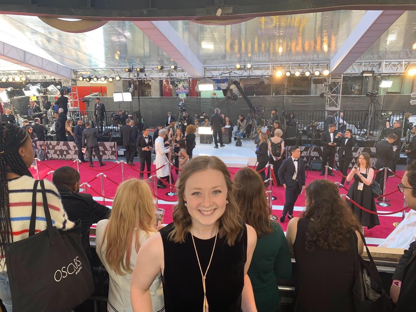 Former MPI intern Carly Hicks attends the Academy Awards thanks to MPI's relationship with Academy Gold.