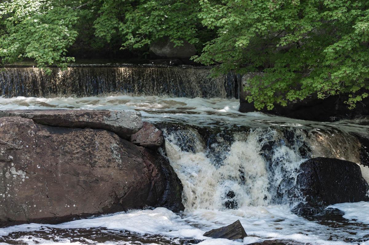 The falls near the fish ladder
