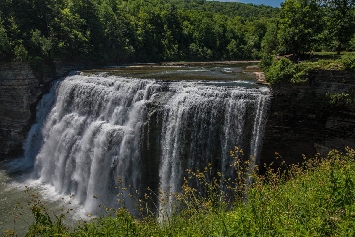 Middle Falls from the walking path