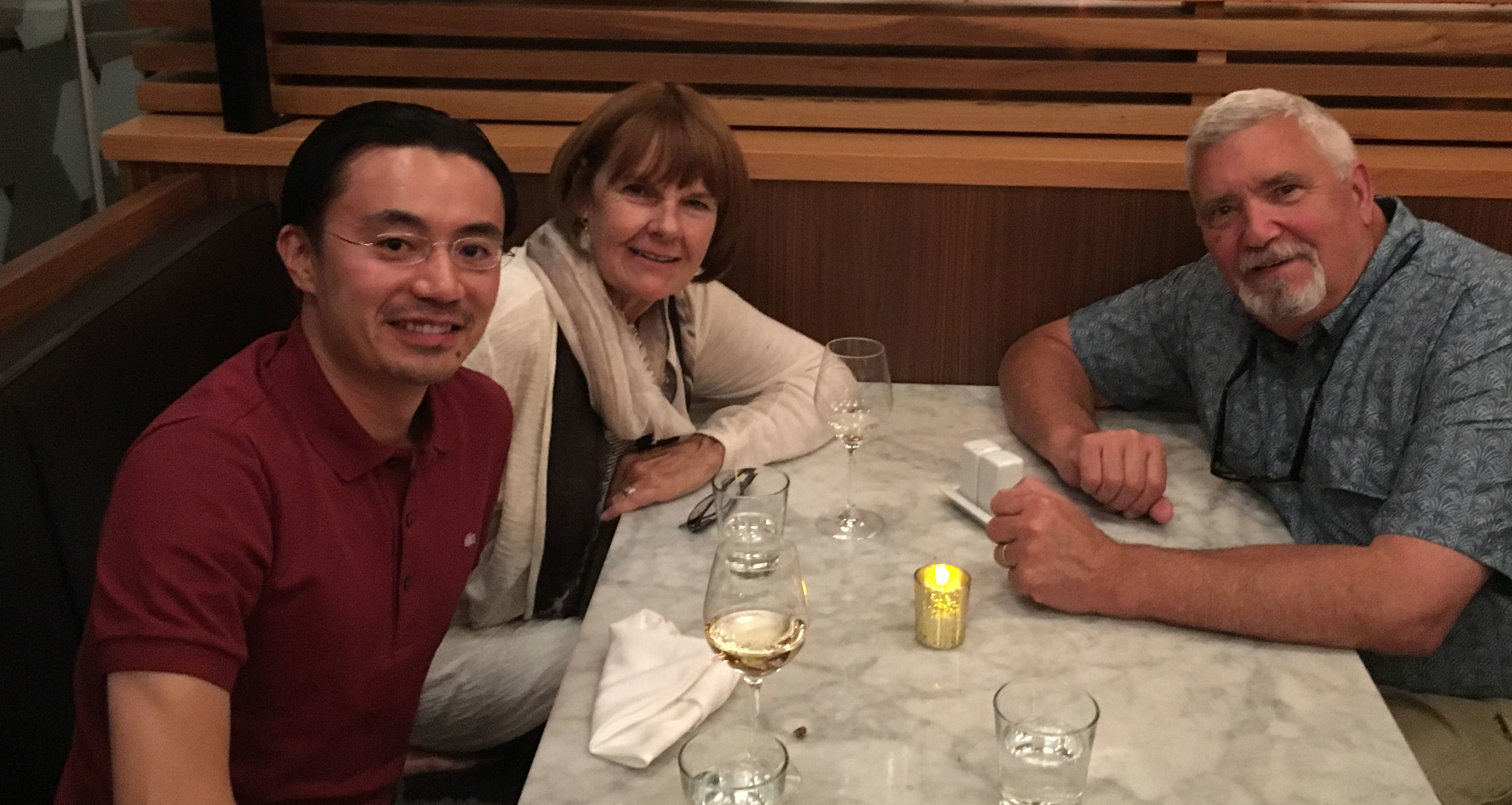 Koji, Carol and I at the Proof restaurant in Waterloo