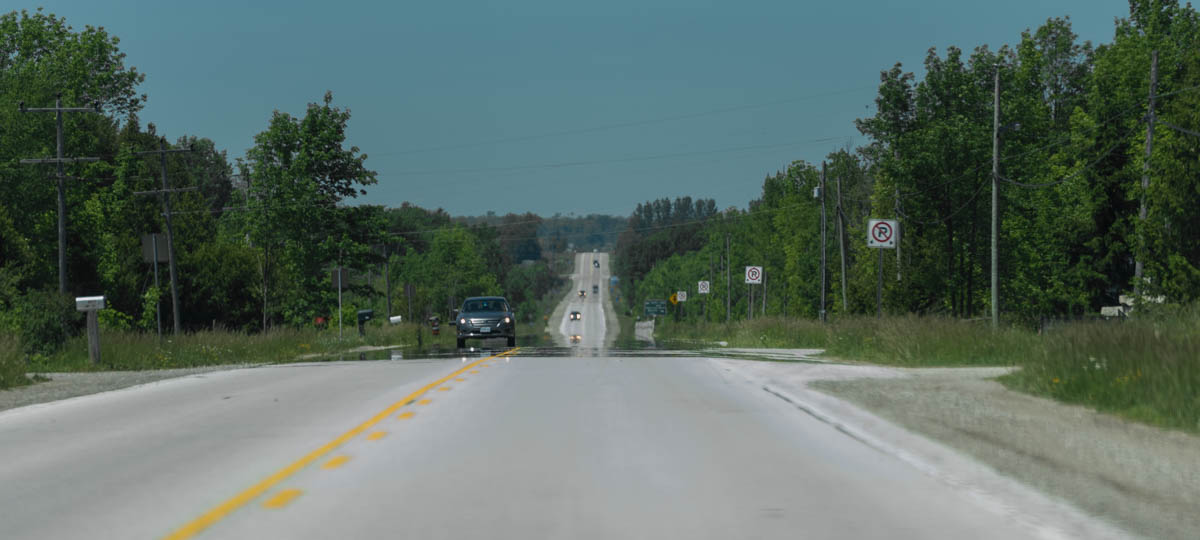 Ontario Route 6 is a long and straight road