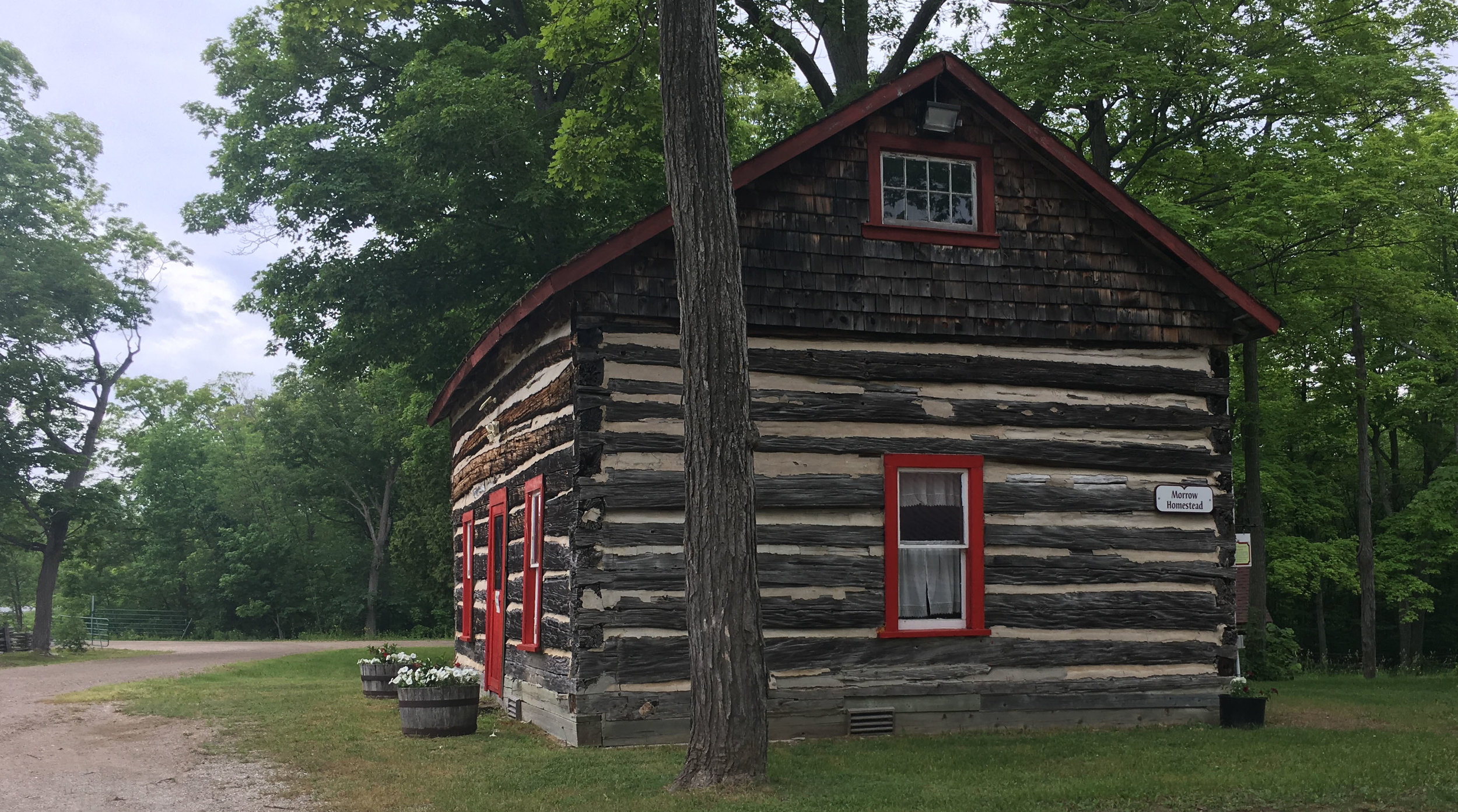 One of the buildings at the museum