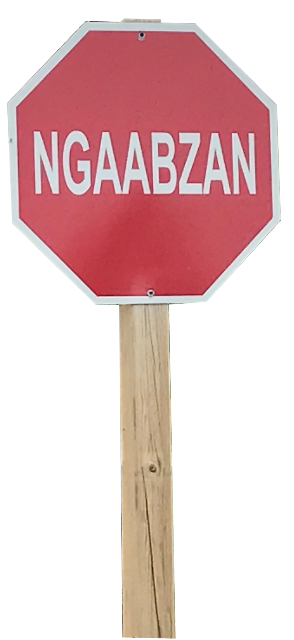Native Stop Sign