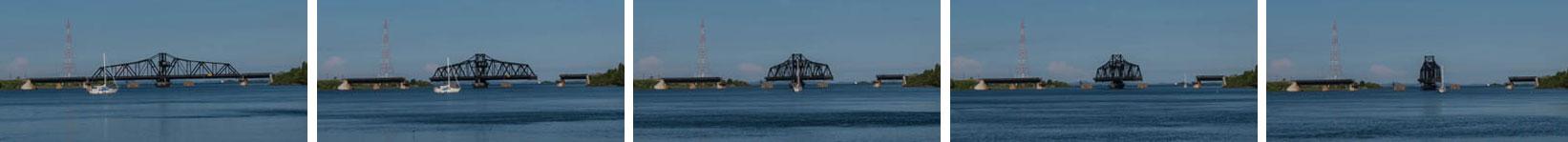 Swing bridge opening