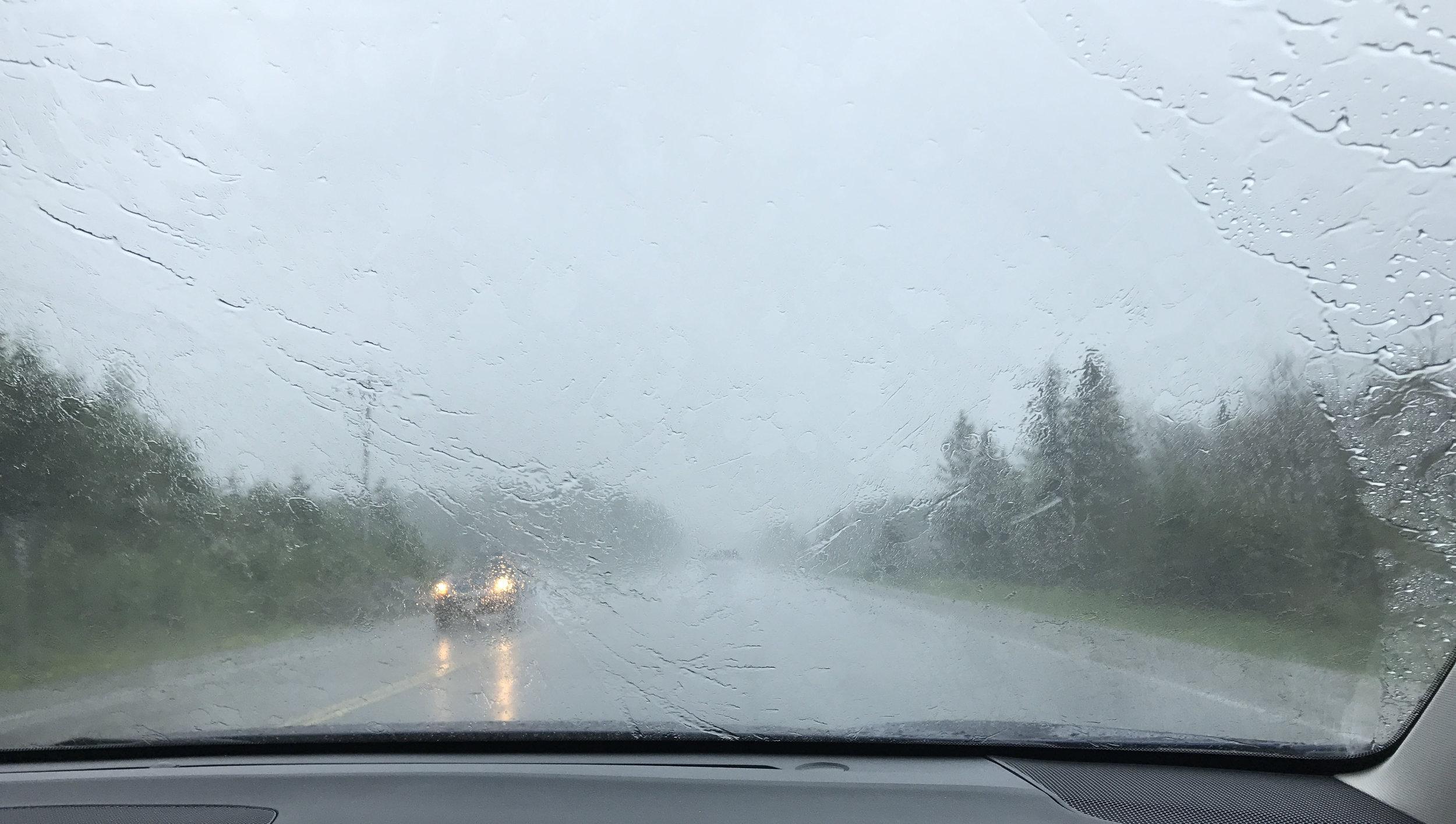 A bit of rain.