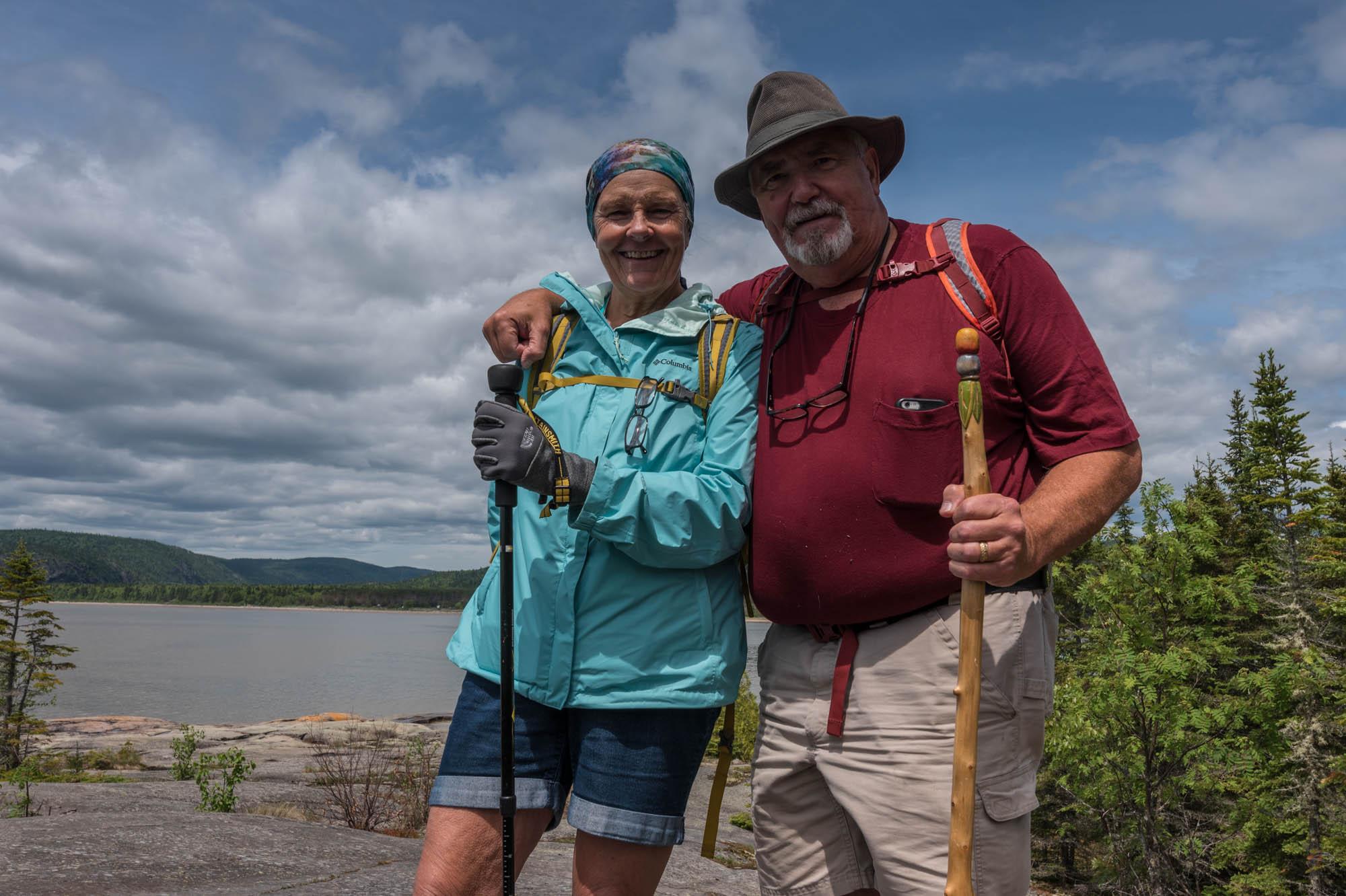 Hiking along Lake Superior