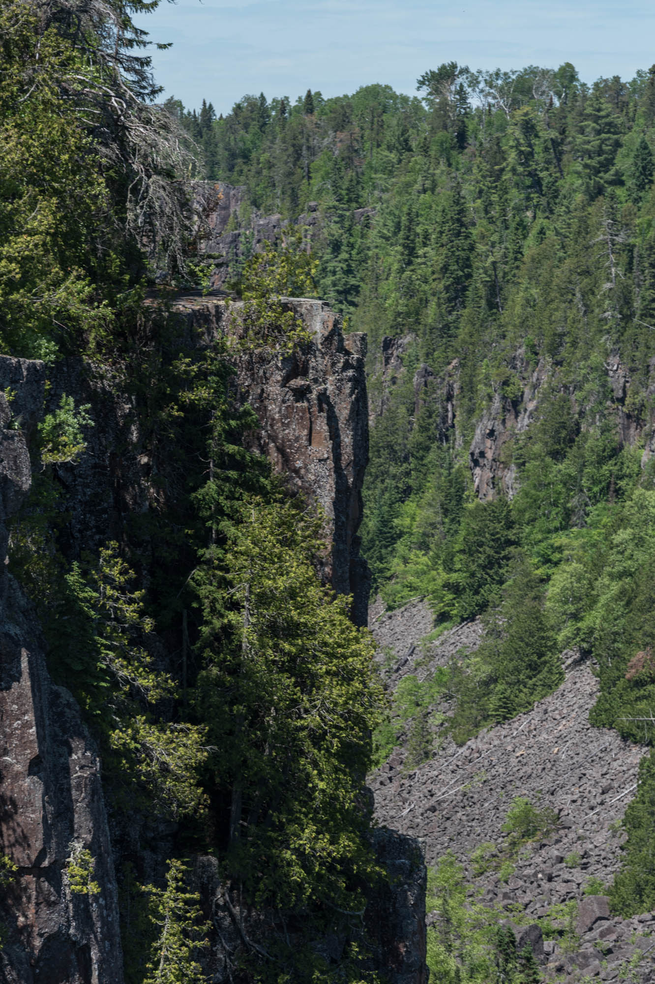 Ouimet Gorge, from a viewing 'pod'